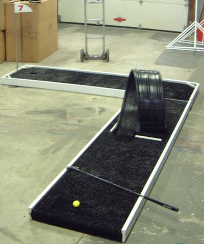 Miniature Golf Hole 7 with Ramp