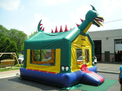 The Dragon Inflatable Moonwalk Bouncer