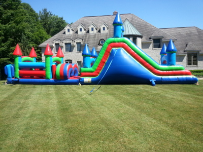 Obstacle Courses Inflatable Moonwalk Bouncer