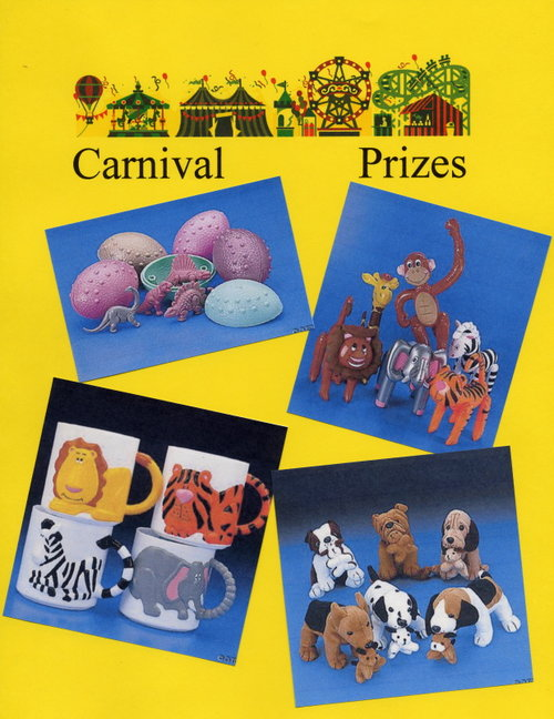 Carnival Prizes - Dinosaurs, Inflatables, Zoo Mugs, Stuffed Animals