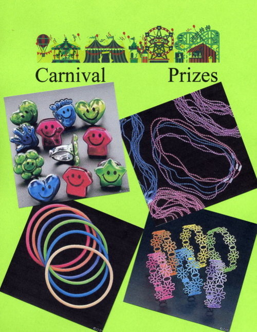 Carnival Prizes - Jewelry, Rings, Necklaces, Glow in the Dark Necklaces, Bracelets