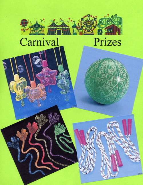 Carnival Prizes - Bubble Necklaces, Bouncy Balls, Toys, Jump Ropes